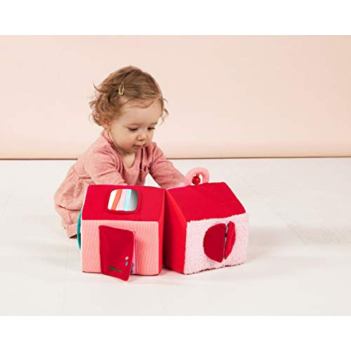Lilliputiens 83077 Entdecker-Spielzeug Rotkäppchens Haus aus Plüsch, Maße: 19x17x21cm, ab 10 Monaten