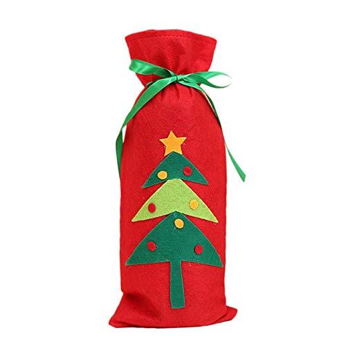 jiangyanyiliao Bolsa de almacenamiento de botellas de vino tinto de Navidad Set Cover,B