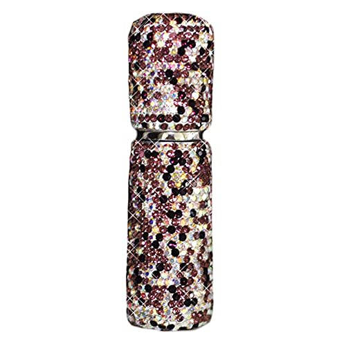Botella dispensadora de Perfume de Diamantes de imitación de 10 ml Bling Bling pequeña Botella de Spray vacía Botella de tóner portátil de Viaje, púrpura