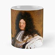 Rigaud XIV King Louis Hyacinth Sun La France 14 Best Mug Tiene 11oz de Mano Hechas de cerámica de mármol Blanco