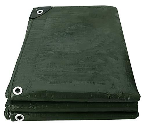 Tarpaulin Heavy Duty Hoge Dichtheid Geweven Polyethyleen 180g/m2 Tweezijdig 100% Waterdicht en UV Beschermde Waarde voor Geld 2mX2m Donker Groen
