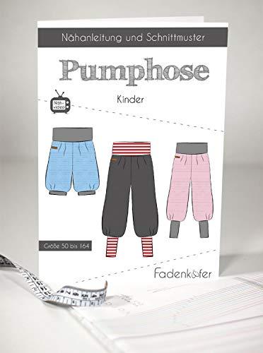 Schnittmuster Fadenkäfer Pumphose Kinder Gr. 50 bis 164 Papierschnittmuster
