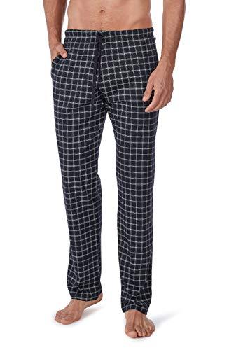 Huber Herren 24 Hours Men Sleep Hose lang Schlafanzughose, Mehrfarbig (Black Check 6606), Large (Herstellergröße: L)