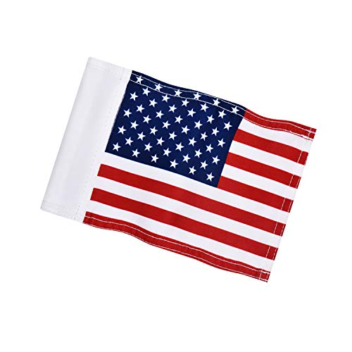 """KINGTOP US Golf Flag, Double-Sewn American USA Flags, Regulation Tube Flag, Practice Putting Green Flag for Yard, 600D Polyester Mini Pin Flags, 8"""" L x 6"""" H, 1-Pack"""