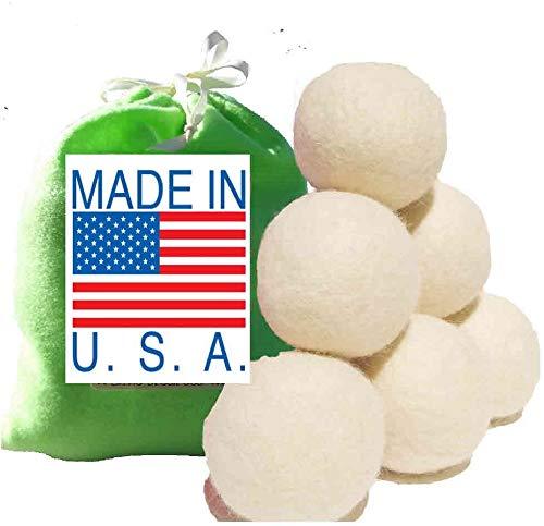 Eco-Friendly 100% Wool Dryer Balls, Free Gift Bag,...