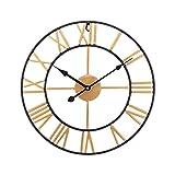 SUCHDECO Reloj de Pared Vintage Silencioso,Funciona con Pilas,Reloj...