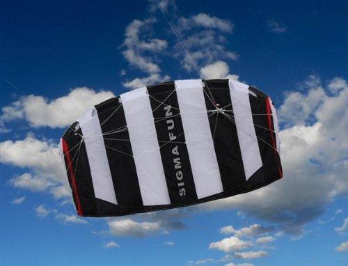 Sigma Fun, Ready to Fly, Lenkdrachen von Elliot 1,6 Schwarz/Weiß