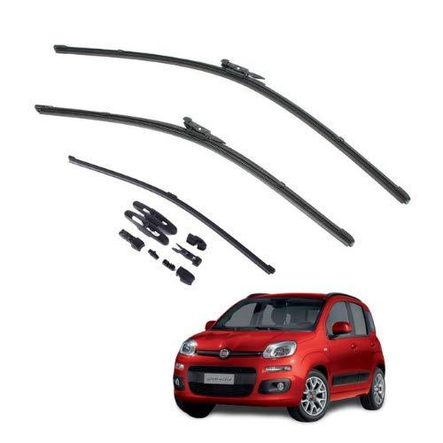 AOQ – Spazzole tergicristallo anteriori e posteriore set da 3 - Fiat Panda