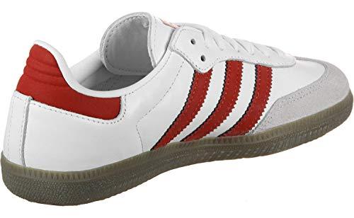 adidas Samba Og, Boy's Fitness Shoes, White (Ftwbla/Escarl/Balcri 000), 4.5 UK (37 1/3 EU)