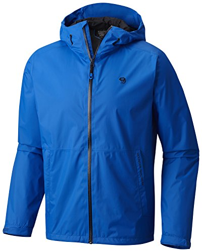 Mountain Hardwear Mens Finder Waterproof Rain Jacket for Everday Use, Backpacking, Hiking and Camping - Altitude Blue - S