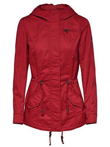 ONLY Damen Parka Übergangsjacke Kurzmantel Kapuzenjacke (42 (Herstellergröße: XL), Jester Red)
