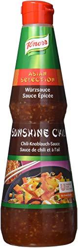 Knorr Sunshine Chili Knoblauch Sauce (asiatische süß-feurige Würzsauce) 1er Pack (1 x 1 Liter)