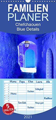 Chefchaouen - Blue Details - Familienplaner hoch (Wandkalender 2021, 21 cm x 45 cm, hoch)