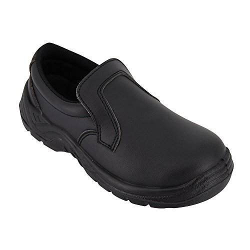 Chaussure de Cuisine Noire - Chaussure de Travail Agro Alimentaire Noire avec Coque de Protection ISO20346 - Diposnible du 35 au 46