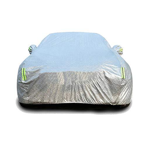 GUOCU Autoabdeckung Vollgarage Vlies, In wetterfestem Vliesstoff, strapazierfähig und atmungsaktiv Für Auto Winter & Sommer,Farbe 1,M für SUV-Länge (430 bis 455CM)