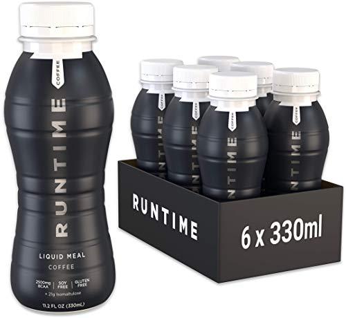 Runtime Liquid Meal - Coffee | 6 x 330ml | Vollwertiger Mahlzeitersatz, lange Sättigung & Leistungsfähigkeit | 23 Vitamine & Mineralien