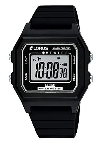 Lorus Reloj Digital para Hombre de Cuarzo con Correa en Silicona R2305NX9