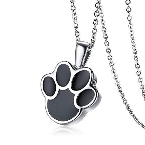 Collares Colgante Joyas Puede Abrir Perro Gato Pata Colgante para Mujer Collar De Acero Inoxidable Mascota Femenina Joyería Que Se Puede Abrir