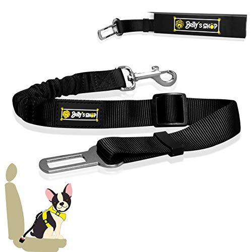 BELLY´S SHOP Hundegurt fürs Auto - Verstellbarer Anschnallgurt - Sicherheitsgurt mit Rückdampfüng für alle Hunderassen & Autotypen