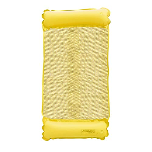 Chanety Bague Piscine Gonflable Hammock Piscine Polyvalente Piscine Plage Fauteuil Salon Flottant Drifter (Color : Yellow)