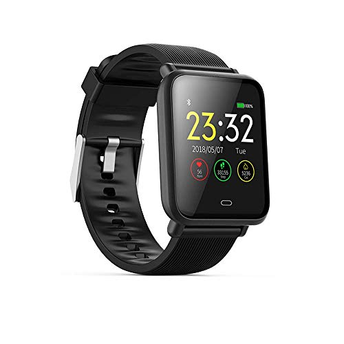 Wysgvazgv Smart Armband, Fitness Activiteit Tracker Horloge Waterdichte IP67 Hartslag Slaap Monitor Stappenteller Bloeddruk SMS SNS Call Alarm Kleur Scherm voor iOS Android iPhone Vrouw Man, Zwart