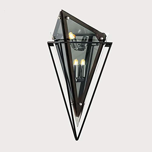 Lámpara de pared LED Luz nórdica posmoderna Lámpara de pared de lujo Fondo de sala de estar Iluminación de pared Diseño minimalista americano Lámparas de personalidad creativa Dormitorio Lámpara de ca