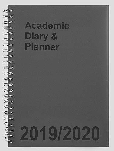 Tiger 2019-2020 - Agenda académica para estudiantes, doble alambre, A5, vista semanal, color gris