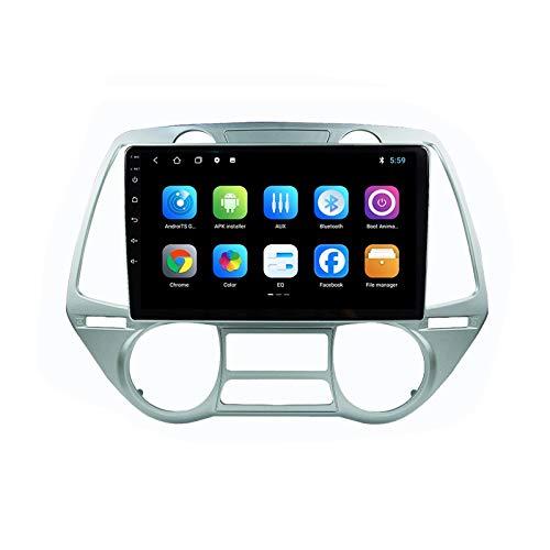 MGYQ Stereo Auto Bluetooth Autoradio 2 DIN con Telecamera Posteriore USB/SD/AUX Ingresso Supporta Dab+/Bluetooth Vivavoce/SWC/DSP/Carplay/1080P Video, per Hyundai I20 2008,Quad Core,WiFi 1+16