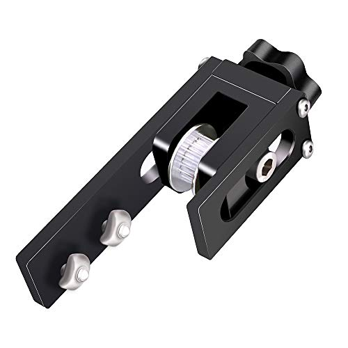 UniTak3D Migliorata 2020 Cintura Sincrona Tenditore per l'asse X,Tenditore Cinghia in Alluminio,Compatibile con le Stampanti 3d Ender 3, Ender 3 Pro etc etc(Nero)