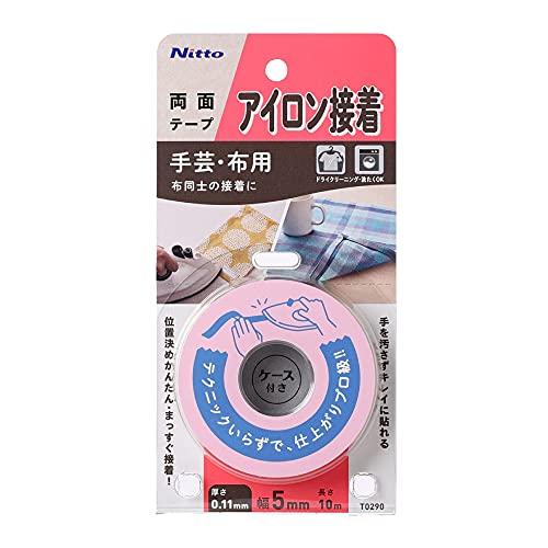 ニトムズ アイロン接着テープ ミシン・針を使わずカンタン裁縫 5mm×10M T0290 透明