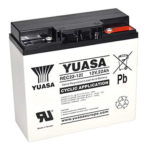 Batteria al piombo 12 V 22 Ah AGM sostituisce 17 Ah 18 Ah 19 Ah 23 Ah tipo ciclico AGM -Deep Cycle VRLA connettore a vite M5