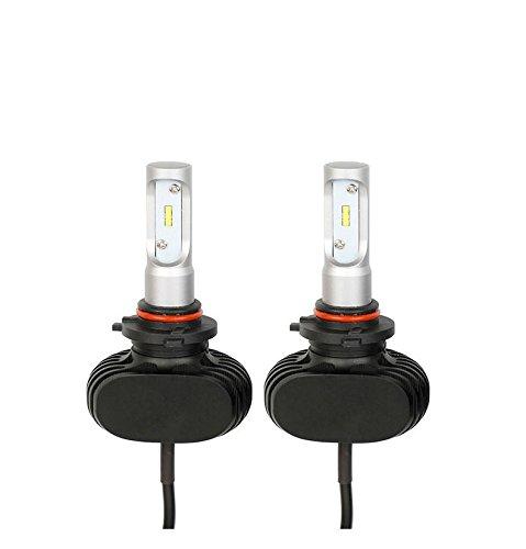 Ampoules de projecteur LED Super Bright - Kit de conversion de longueur de focale réglable 40W 6000LM phares de voiture et de moto , 9006