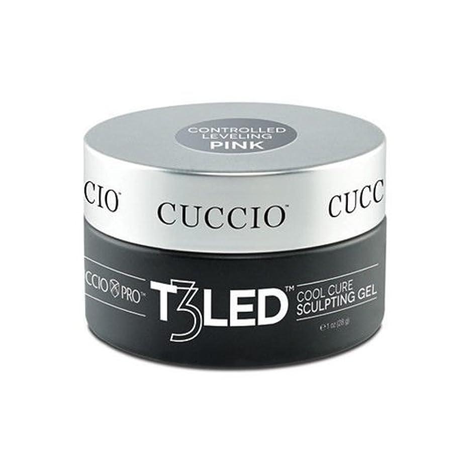 筋肉の気絶させるクロールCuccio Pro - T3 LED/UV Controlled Leveling Gel - Pink - 2oz / 56g