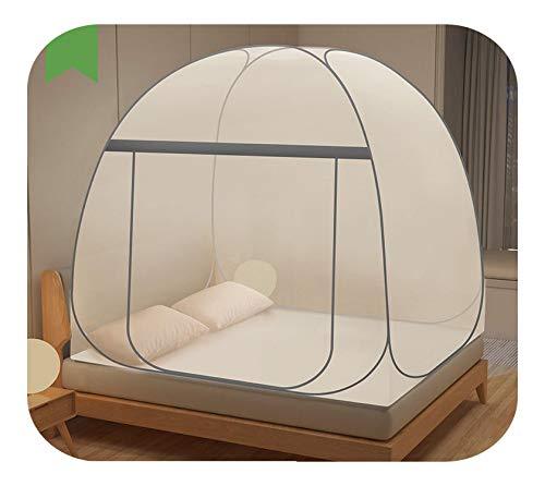Canopy Girls, Nuevo Mosquitera Plegable Para El Hogar Canopy Cama De Gran Espacio Tienda De Campaña Encriptación De Malla Adultos Mosquitera Redes Portátiles Para Acampar-shenmi Grey-1.2m (4 Pies)