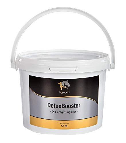 Equanis DetoxBooster – cure détoxifiante naturelle avec curcuma, pissenlit, ortie, farine de pépins de raisin, feuilles de bouleau, graines de chardon-marie, artichaut et tourbe d'extraction de lin