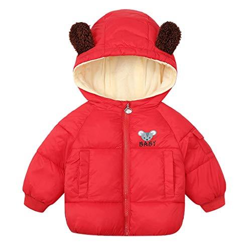 Fulltime (TM) - Chaqueta para niños con capucha para exteriores, gruesa, cálida, resistente al viento, cortavientos