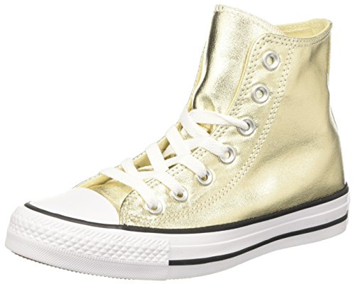 Converse 155565C, Zapatillas Altas Hombre, Dorado (Light Gold/White/Black), 36 EU