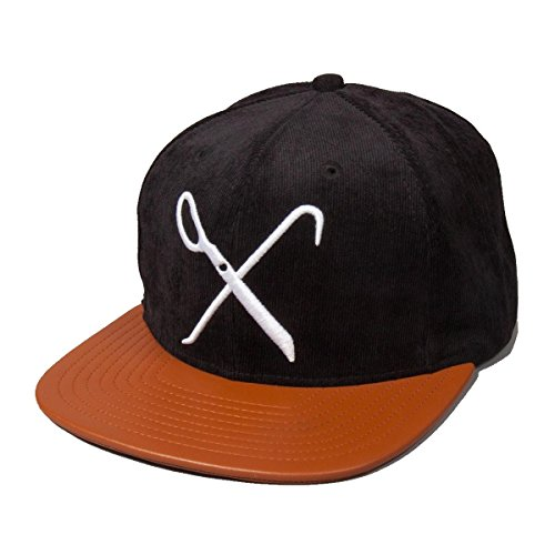 King Apparel Hard Graft 6 Panel Snapback Black Brown - Sale