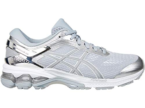 Price comparison product image ASICS Women's Gel-Kayano 26 Platinum Running Shoes,  8M,  Piedmont Grey / Silver