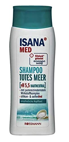 ISANA MED Shampoo Totes Meer - mit juckreizlinderndem Wirkstoffkomplex & wertvollen Mineralien aus dem Toten Meer - 200 ml
