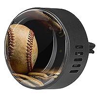 エッセンシャル オイル ベント クリップ用カー ディフューザー、野球の古い ,2 パック 40mm アロマセラピー芳香剤