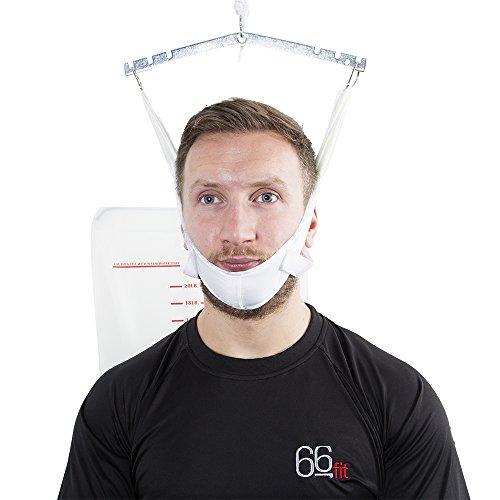 66FIT apparecchio per trazione cervicale a Porta, da Appendere alla Porta –correttore posturale, Bianco