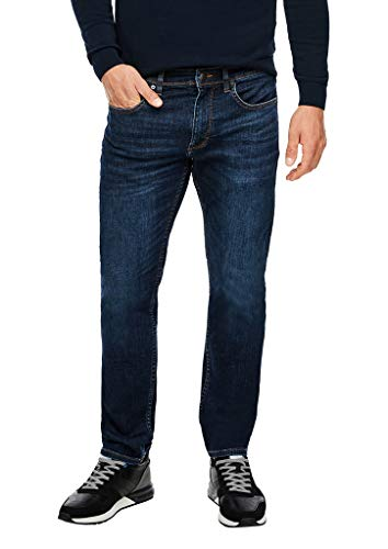 s.Oliver Herren Slim Fit: Stretchjeans mit Waschung dark blue 38.32