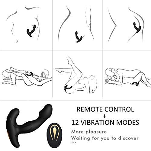 Silicone Massager Próstátê Vibration Patterns and Whisper Quiet Remote Control Vïbraror Rechargeable Waterproof Ânús Massage for Men
