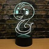 Luz de noche 3D dibujos animados lindo edición de cómic cultura china 12 zodiaco decoración de...