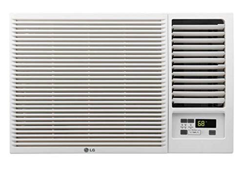 LG 7,500 115V Window-Mounted 3,850 BTU Supplemental Heat Function Air Conditioner, White