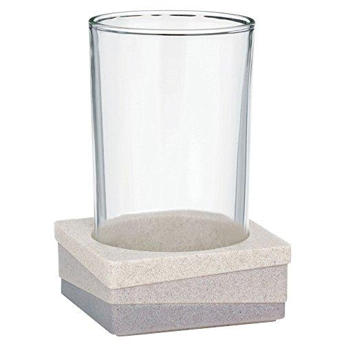 kela 22801 Gobelet Valura en Poly Beige/Marron, Plastique, 7,5 x 7,5 x 11 cm
