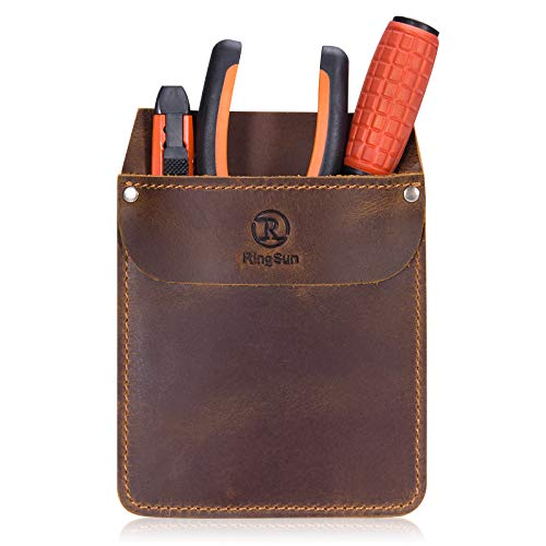 RingSun Leather Pocket Protector Durable Pocket Tool Pouch Jeans Shirts Pocket Protector for Tools Pens RS10