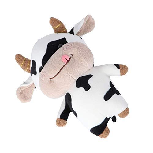 hjj Cow Lolpy Almohada Relleno Animal Peluche Toys 2021 Alejo Año Muñeca Mascota Zodiaco Buey Abrazo Almohada Muñeca Muñeca Fluffy Throw Pillow Regalo para niños Año Nuevo Regalo jianyou ✅