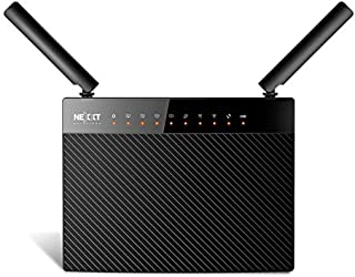 Nexxt Solutions Wireless Gigabit High-Speed AC1200 Dual-Band Router [Acrux 1200] | 1200Mbps Fast Ethernet with Signal Amplifying Antenna